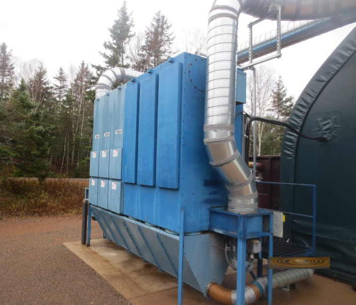 BAGHOUSE DUST COLLECTOR (W/HOPPER & DUST TRANSFER)