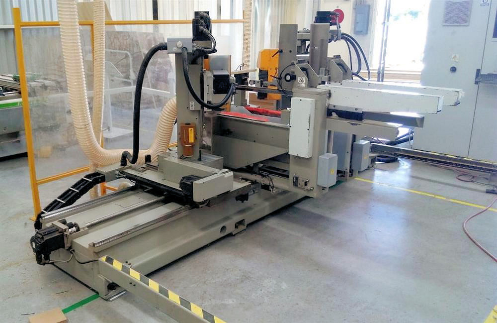 DOUBLE END TENONER - CNC (FOR MITERED DOORS)