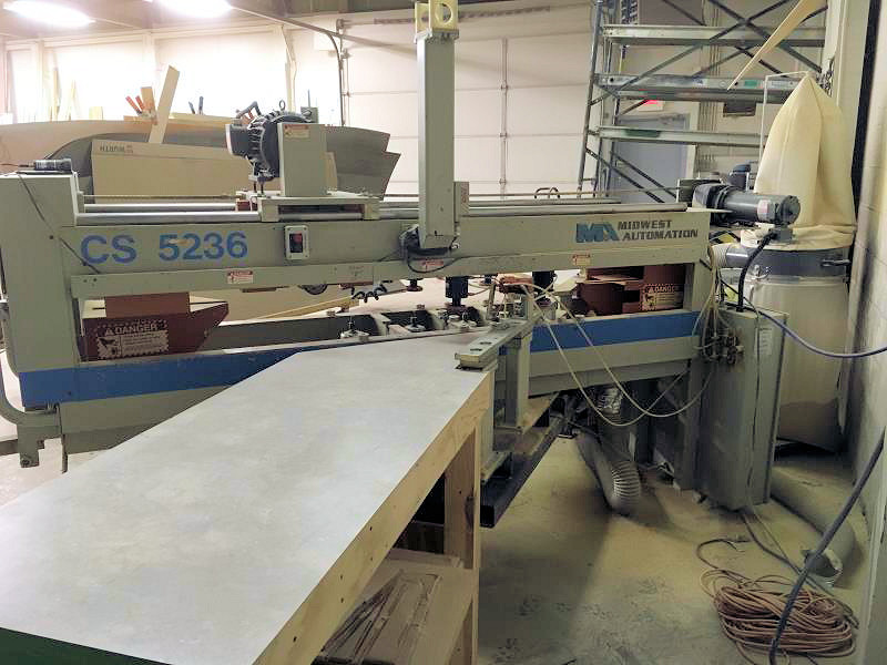 Used Midwest Automation Cs 5236 Countertop Saw W Routers